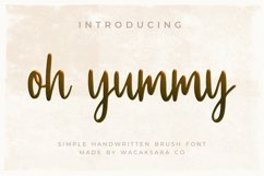 oh yummy script font Product Image 1