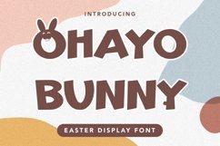 Ohayo Bunny - Easter Display Font Product Image 1