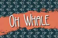 Oh Whale a Hand Lettered Font Product Image 1
