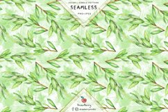 Green Leaves Seamless Pattern SP127 Product Image 2