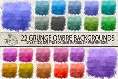 Ombre Watercolor Sublimation Background Bundle Grunge Colorful