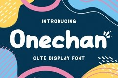Web Font Onechan Product Image 1