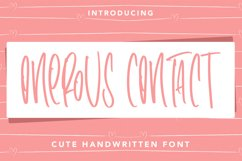 OnerousContract - Cute Handwritten Font Product Image 1