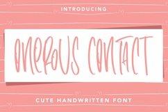 Web Font OnerousContract - Cute Handwritten Font Product Image 1