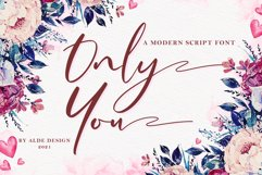 Only You // Modern Script Product Image 1