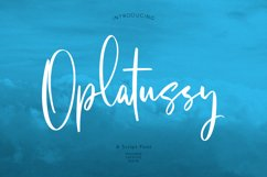 Oplatussy Script Font Product Image 1