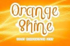 Orange Shine - Sweet Handwritten Font Product Image 1
