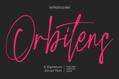 Orbitens Signatue Script Font Product Image 1