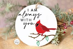 I am always with you SVG | Red Cardinal Memorial Design Product Image 2