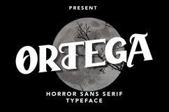 Ortega - Horror Sans Serif Typeface Product Image 1