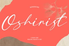 Oshirist Script Font Product Image 1