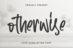 Otherwise - Cute Handletter Font Product Image 1