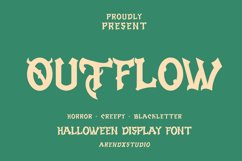 Outflow - Halloween Display Font Product Image 1