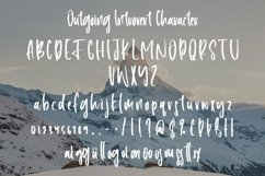 Web Font Outgoing Introvert - Handlettering Font Product Image 3