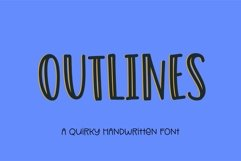 Web Font Outlines - a fun quirky handwritten font Product Image 1