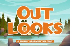 Outlooks - Chunky Handwritten Font Product Image 1