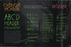 Outright Horror: Hand-drawn Halloween Font Product Image 2