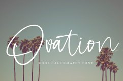 Ovation - Cool Calligraphy Font Product Image 1