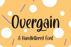 Web Font Overgain - Handlettered Font Product Image 1