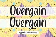 Web Font Overgain - Handlettered Font Product Image 3