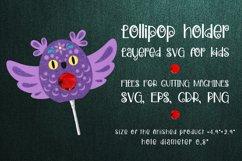 Owl  Lollipop Holder template SVG