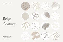 Beige Abstract Instagram Highlight Icons   Highlight Covers Product Image 1