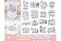 Baby SVG Bundle, Cute Baby Sayings SVG, Baby Quote Bundle Product Image 1