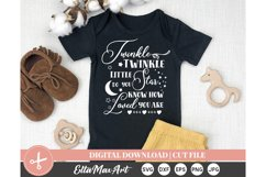 Twinkle Twinkle, Cut File Svg, silhouette cut file Product Image 2