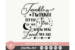 Twinkle Twinkle, Cut File Svg, silhouette cut file Product Image 3