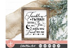 Twinkle Twinkle, Cut File Svg, silhouette cut file Product Image 4
