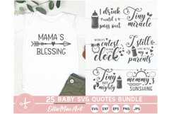 Baby SVG Bundle, Cute Baby Sayings SVG, Baby Quote Bundle Product Image 2