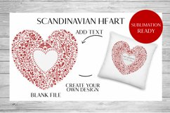 Scandinavian Style Floral Heart Wedding, Anniversary PNG Product Image 2
