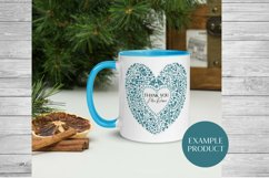 Scandinavian Style Floral Heart Wedding, Anniversary PNG Product Image 3