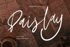 Web Font Paislay - A Stylish Signature Font Product Image 1