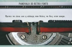 Panovalo 3D Retro Font | Open Type & Woff Product Image 4