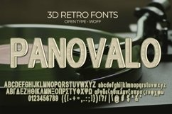 Panovalo 3D Retro Font | Open Type & Woff Product Image 5