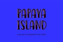 Papaya Island - a quirky handwritten font Product Image 1