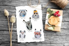 Cute owls printable cricut stickers. PNG, JPG, PDF. Product Image 3