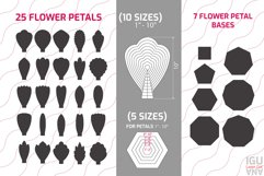 Paper Flowers templates SVG. Mega Bundle for cricut and cutting machines includes rolled flowers templates, flower centers, flower petals temlates, petal bases, botanical and tropical leaves, leaves of monstera, peony flowers