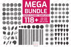 Paper flowers templates svg. Paper cut flowers mega bundle for cricut and cutting machines includes rolled flowers templates, flower centers, flower petals, paper craft templates botanical and tropical leaves silhouettes