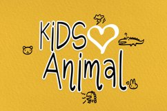 Kids Love Animals - Child font with doodle glyphs Product Image 6