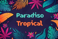 Paradiso Tropical Summer Font Product Image 1