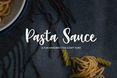 Web Font Pasta Sauce - a fun script font Product Image 1