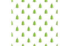 Festive xmas tree pattern seamless vector Product Image 1