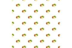 Macadamia pattern seamless vector Product Image 1