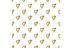 Triangular carabine pattern seamless vector Product Image 1