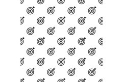 Arrow in target pattern seamless vector Product Image 1