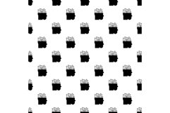 Smart brain mind pattern seamless vector Product Image 1