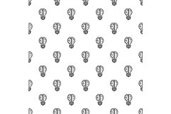 Brain bulb pattern seamless vector Product Image 1