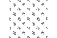 Puzzle in hand pattern seamless vector Product Image 1